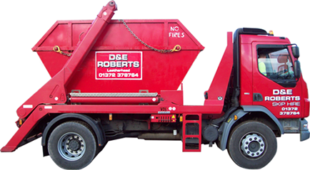 picture of D&E Roberts skip lorry
